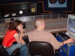 Edie views the Pro Tools sequences