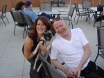 Deena w/ Maxx (the pug) & his dad.