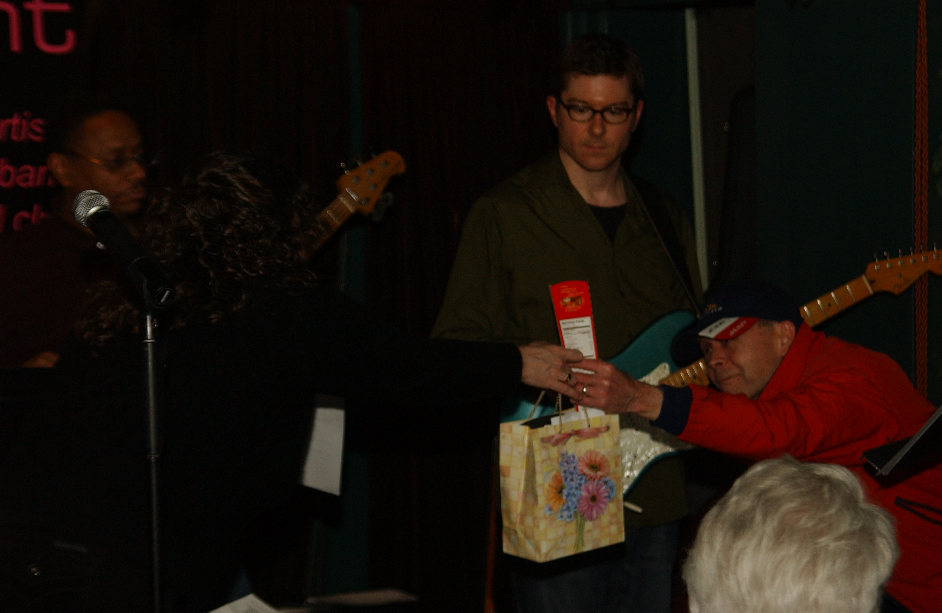 Bob Maleske receiving his prize. He was also one of the top 5 in 2008.