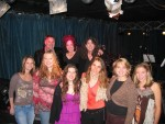 All the artists gather for group shot before the show...smile pretty!