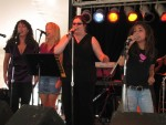 """ALyX sings """"This Is My Story"""" with Alaria, Barb and Ellen helping out."""