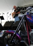 Jim showed off his fingerpicking prowess and he sure looks good with this Harley!