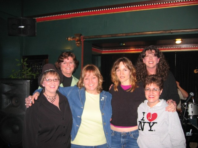 Rehearsal photo L to R: Victoria Bowman, Sharon Schmidt, Lisa Medill, Carmen Nickerson, Alaria Taylor, Rebecca Ellsworth.