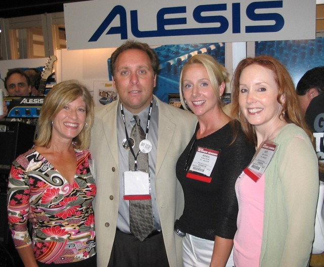 Lori introduces the Nashville CSN team to Mark Frederick, V.P. of Sales and Marketing for Alesis