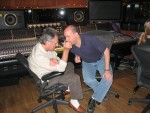 Al and assistant engineer Bill Smith discuss strategy.