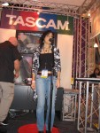 Carla representing CSN at the Tascam booth.
