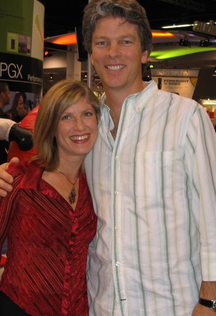 Lori and college friend Clay Ostwald, keyboard player for the Miami Sound Machine.