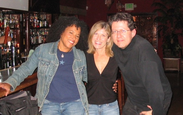 Vicki Randle with Lori and Brian Monroney before the show.