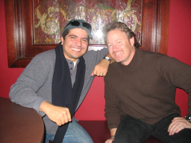 Otmaro Ruiz and Adam Cohen, CSN L.A. band guys take a break.