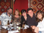 Betsy's Party Table! Raul & Talia Miravet, Lisa & Sean Wright with Betsy's sister