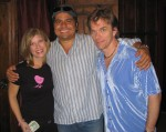 Lori hangs with half a kick-ass band, Otmaro Ruiz and John Defaria