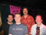 The Chick Singer Night band! L>R: Al Arber, Dan Johnston, Tom Good and Sam Steffke. Whoo hoo!!