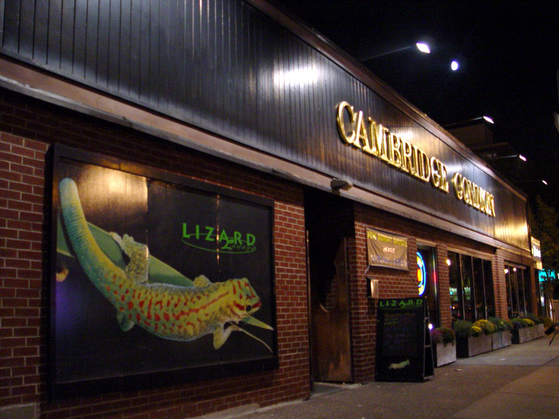 Lizard Lounge is in the Cambridge Commons, 1667 Mass Ave in Cambridge.