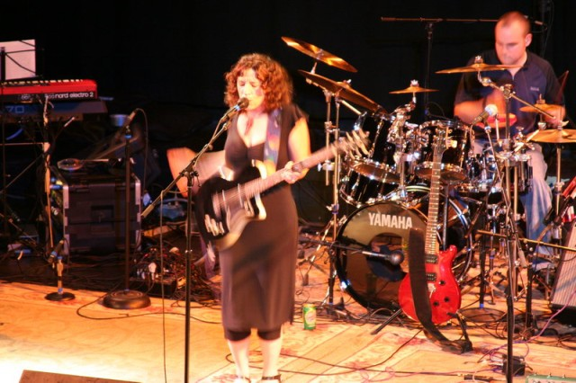 Jennifer Matthews rocks out.