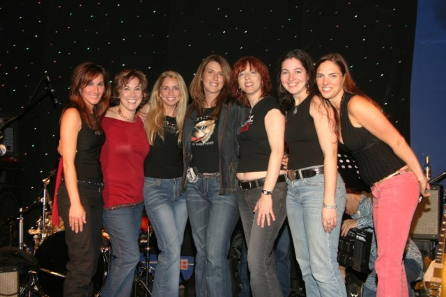 Deena Miller (CSN-NY Director) takes a photo with the Jersey chicks